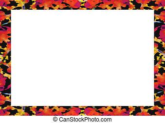 frame, ontwerp, floral, randjes, witte , landscape