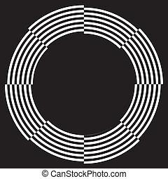 frame, ontwerp, spiraal, illusie