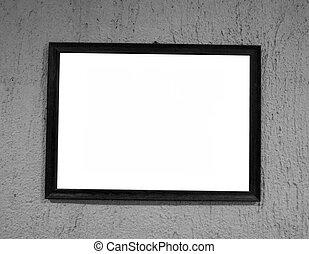 frame, op, black , muur