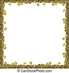 Frame ornament with olives and leaves