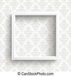 Frame Ornaments Wallpaper - White frame on the wallpaper...