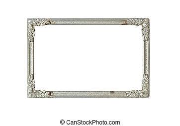 frame, oud, zilver, roest