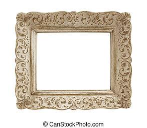 frame, ouderwetse , afbeelding, pleister