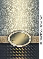 frame., ouderwetse , elegant, achtergrond