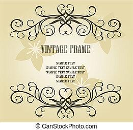 frame, ouderwetse , ontwerp