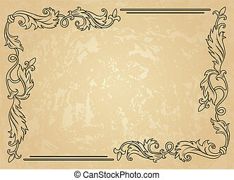 frame, ouderwetse , ornament