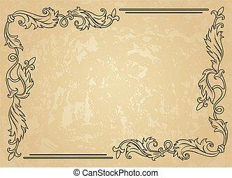 frame, ouderwetse , ornament