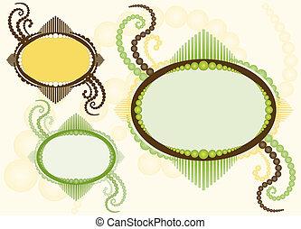 frame oval, com, flourishes