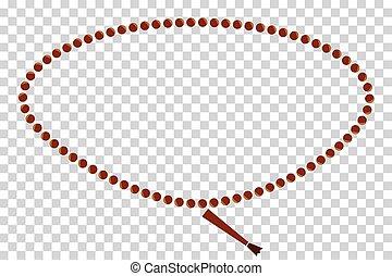 Frame - Oval Prayer Beads