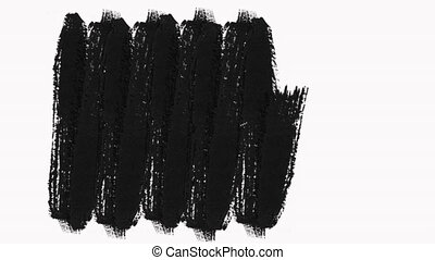 Frame Paint Brush Strokes Transition Reveal with Alpha Channel - Transparency. Transition Disappears in the Same Direction as Appearing. Perfect for Motion Graphic, Slide Show, Fade, Matte, Reveal.