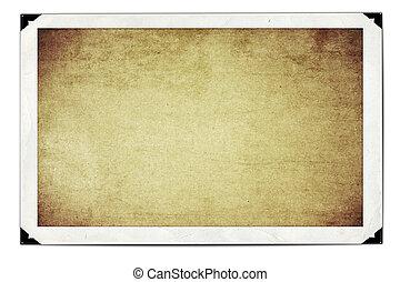 frame, papier