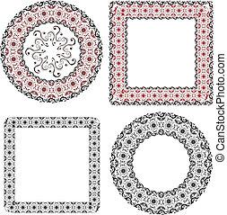 frame patterned
