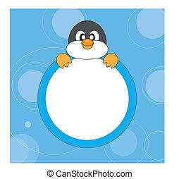 frame, penguin.