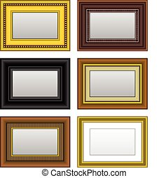 Frame Picture Photo Mirror - A set of picture and mirror...