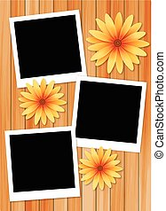 frame picture with sun flower