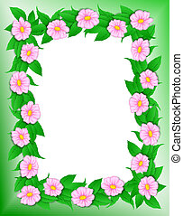 Frame - Pink Flowers