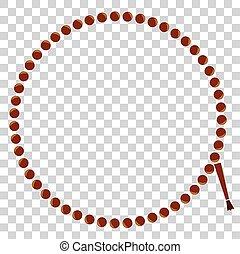 Frame - Prayer Beads - Circle - Vector Frame - Circle Prayer...