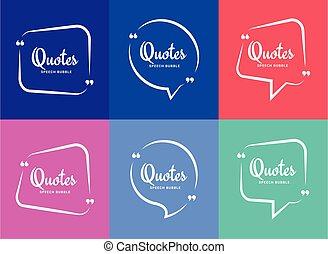 frame., quotazione, bolla, citare, boxes., texting, blog.,...