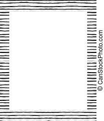 frame, randjes, verfraaide, achtergrond, witte
