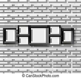 frame., realistico, set