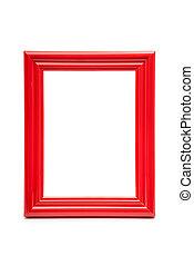 frame red on white background