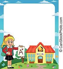 frame, schoolmeisjes