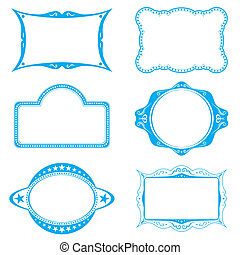Frame set - Collection of different frames for background or...