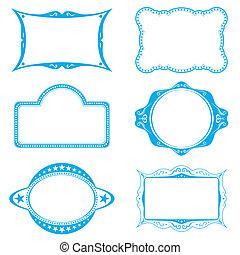Frame set - Collection of different frames for background or...
