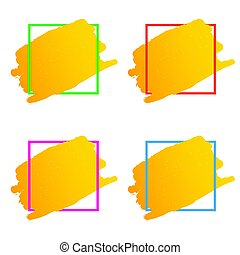 frame set in various color illustration