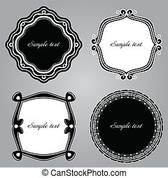 Frame Set ornamental. Vector