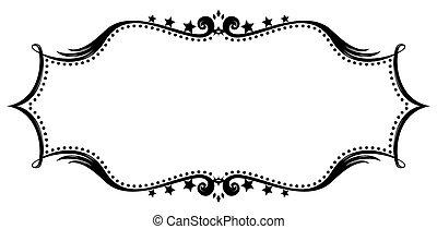 frame, silhouette, retro