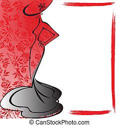 frame, silhouette, vrouwlijk
