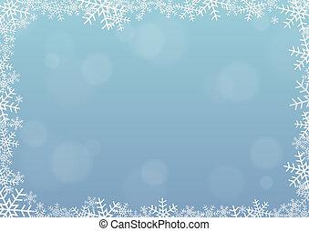 frame, sneeuwvlok