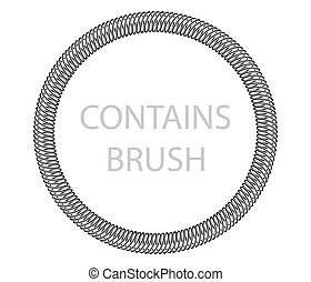 Frame spring contains brush design element. Vector...