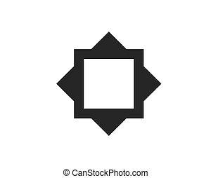frame square vector icon illustration