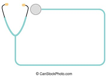 frame, stethoscope, vector, eenvoudig