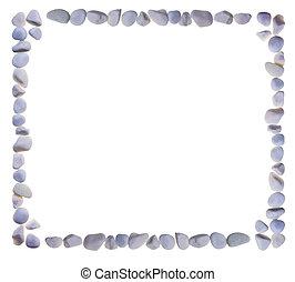 frame, stones., gecombineerd, lege
