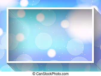 Frame template design with light on blue