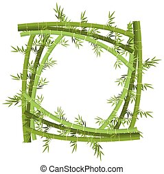 Frame template with bamboo tree