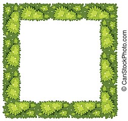 Frame template with green grass
