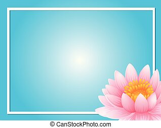 Frame template with pink lotus