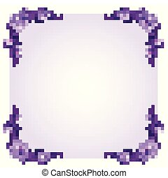 Frame template with purple flowers