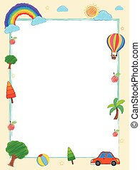 Frame template with summer holiday theme