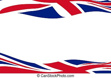 Frame template with waving United Kingdom flags