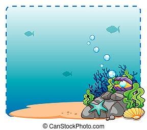 Ocean Theme Frame Background