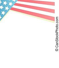 Frame USA flag