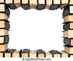frame, van, groep, boekjes