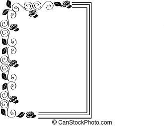 frame, van, rozen