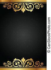 frame, vector, black , luxe, goud