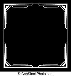 frame, vector, black , witte achtergrond